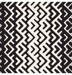 Seamless black and white chevron geometric vector