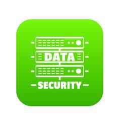 server data security icon green vector image