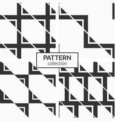 set four seamless patterns abstract vector image