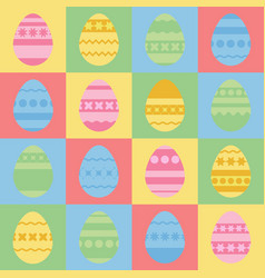 Set of colored isolated easter eggs with an vector