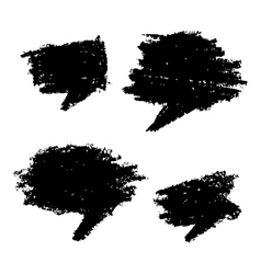 Set of hand drawn grunge bubbles vector
