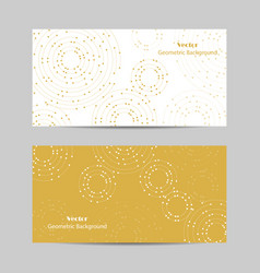 Set of horizontal banners geometric pattern with vector