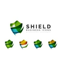 Set of protection shield logo concepts vector image vector image