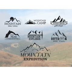 Set of Summer mountain explorer camp badge logo vector image