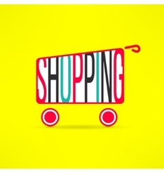 Shopping cart symbol Marketing background vector