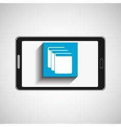 Smartphone technology library e-books vector