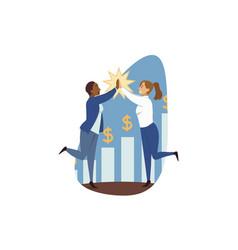 success goal achievement winning teamwork vector image