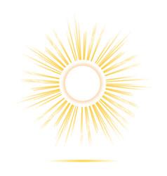 Sun rays circle frame vector