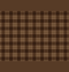 tartan plaid brown vector image