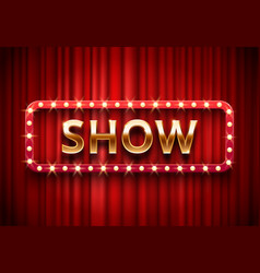 theater show label festive stage lights shows vector image