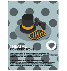 Theatre color isometric poster vector