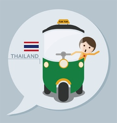 Travel collection thailand vector