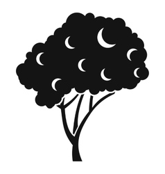 Tree icon simple style vector