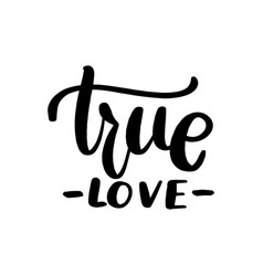 true love lettering greeting card vector image