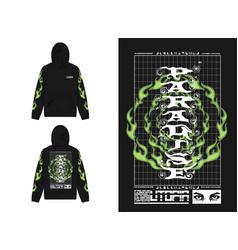 Utopia hoodie vector