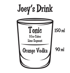 with alcoholic cocktail on background vector image