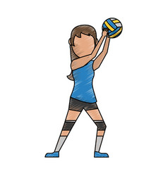 woman voleyball player vector image