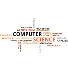 word cloud computer science vector image