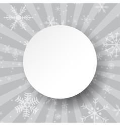 Abstract light grey Christmas card Christmas vector image