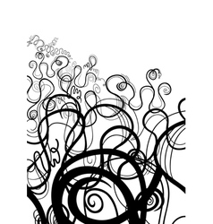 Black and White Abstract Swirl vector image vector image