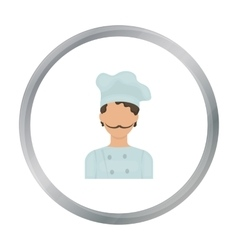 Chef icon in cartoon style isolated on white vector image vector image