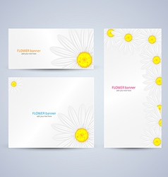 flowers brochure template vector image vector image