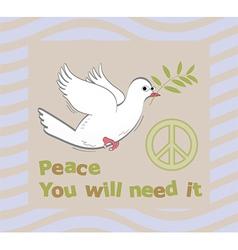 peace symbol vector image vector image