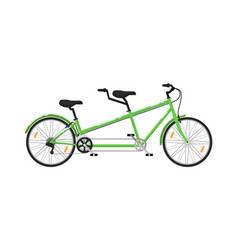 tandem city bicycle isolated icon vector image vector image