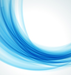 Abstract blue wave background vector image vector image
