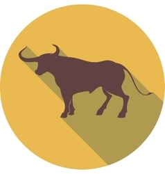 Bull sign vector image vector image