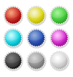 Promotional Stickers Colorful Labels vector image vector image