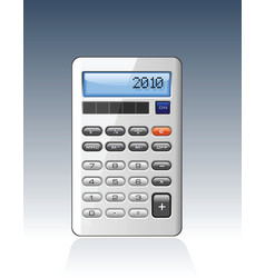 silver calculator vector image vector image