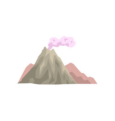 volcano eruption with dust cloud vector image