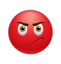Angry emoticon vector