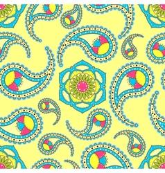 Bright seamless paisley pattern vector image vector image