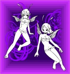 girls elfy vector image vector image
