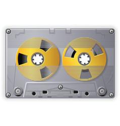 audio cassette vector image vector image