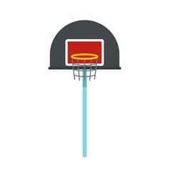 basketball hoop icon flat style vector image