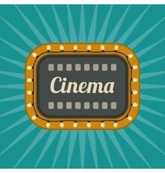 Retro Cinema banner vector image