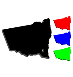 3d map of new south wales vector image