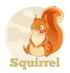 ABC Cartoon Spuirrel vector image