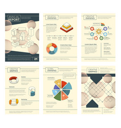 annual report template report business company vector image