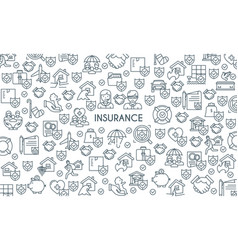 banner on theme insurance2 vector image