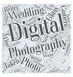 Best digital photography wedding Word Cloud vector