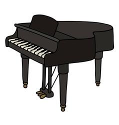 Black grand piano vector