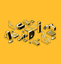 business audit letters isometric vector image