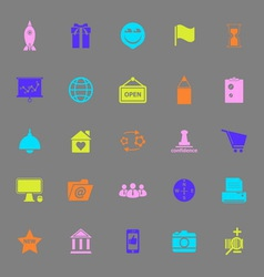 Business start up color icons on gray background vector