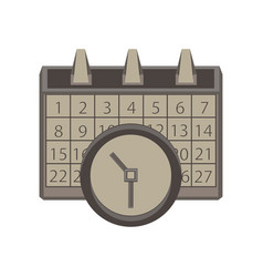 calendar clock icon time date symbol sign concept vector image