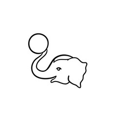 circus elephant hand drawn sketch icon vector image