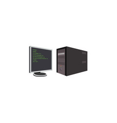 color image computer monitor and system vector image